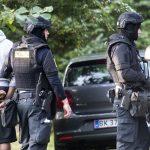 Vejers: En større politiaktion er i gang i Vejens.Foto: John Randeris
