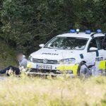 Vejers: En større politiaktion er i gang i Vejens, her ved krydset Vejers Havvej og Kallesmærskvej.Foto: John Randeris