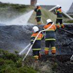 Naturbrand på Hjelmevej ved Henne Strand